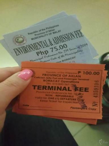 Билеты получаемые в порту.