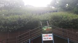 а вот так выглядит эти лестница из 291 ступеньки с подножия горы